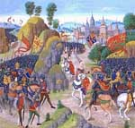 Battle of Neville's Cross, the Froissart of Louis of Gruuthuse, c. 1470