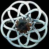 Celtic Cairngorm Brooch