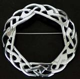 Celtic Weave Interlace Sash Brooch