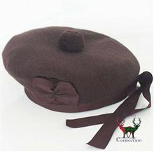 Balmoral Bonnet Chocolate Brown Size 58