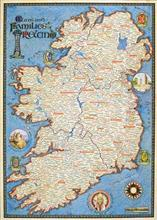 Map Of Quinn Ireland.Clan Map Of Ireland