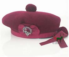 Maroon Balmoral Bonnet with Tails
