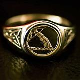 Mens Gold Clan Ring