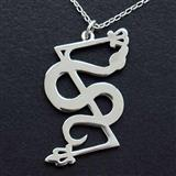 Pictish Serpent and Z-Rod Silver Pendant