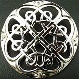 Plaid Brooch Celtic Interlace