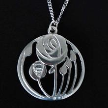Scottish Art Nouveau Rose Pendant