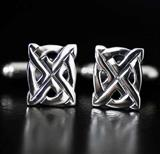 Sterling Silver Scottish Saltire Cufflinks