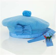 Saxe Blue Balmoral Bonnet with Tails