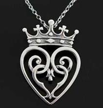 Scottish Love Luckenbooth Pendant Silver