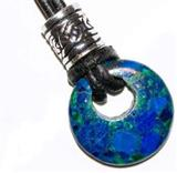 Celtic Azurite-Malachite Bead Pendant