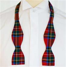Tartan Bow Tie Self Tie - Featherweight