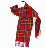 Tartan Stole Royal Stewart - Brushed Lambswool