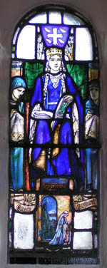 St Margaret, St. Margaret's Chapel, Edinburgh Castle. Douglas Strachan (1875-1950). Stained glass Window 1922