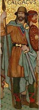 Calgacus, from the processional frieze of famous Scots, Scottish National Portrait Gallery, Edinburgh, William Hole 1898